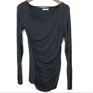 Bailey 44 Draped Front Long Sleeve Top